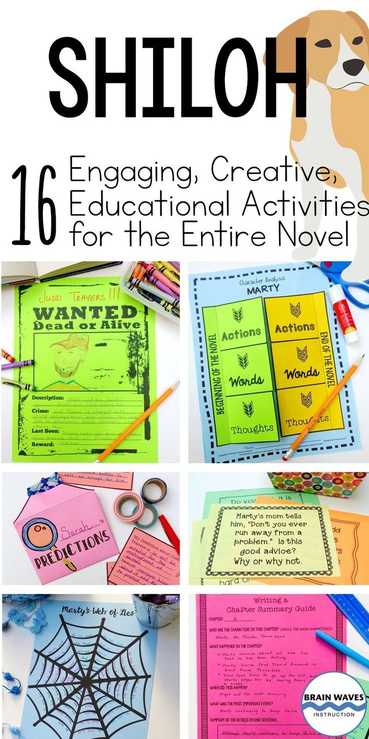 hight resolution of Looking for fun and engaging ways to teach the novel Shiloh? Then