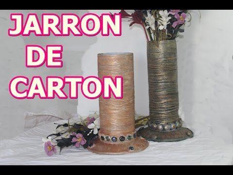 Como Realizar Un Jarron De Carton 1era Parte To Make A Vase Of