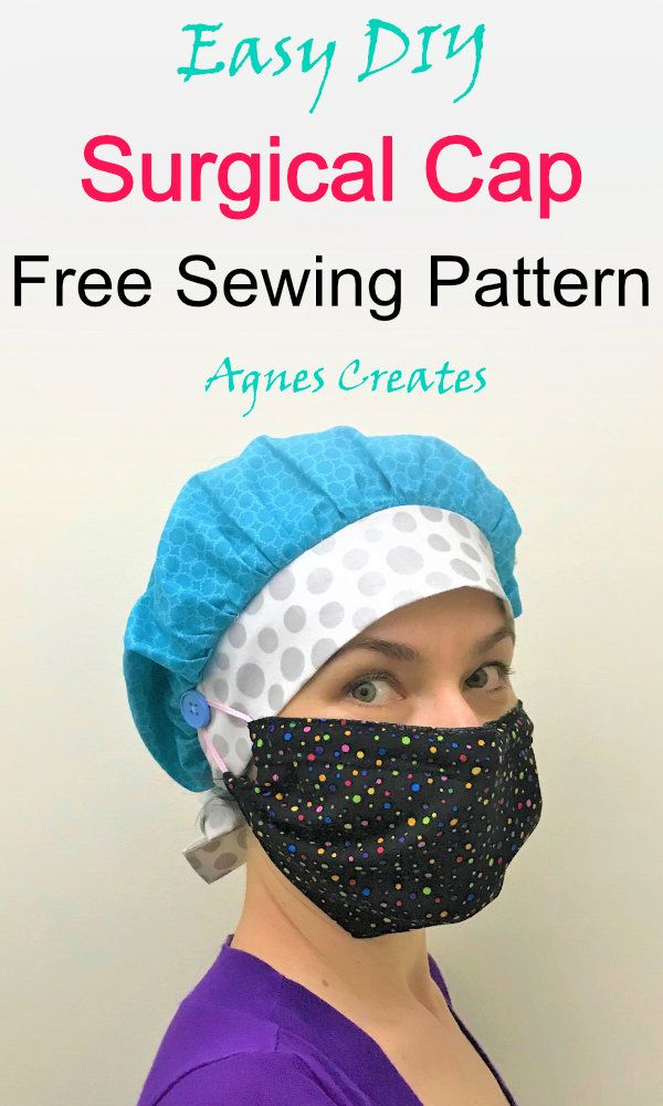 Surgical Cap Sewing Pattern - Free Printable - Agnes Creates