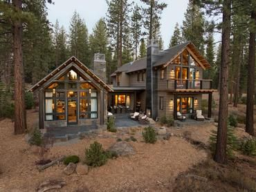 Wood And Stone Houses In The Forest Anazhthsh Google Hgtv