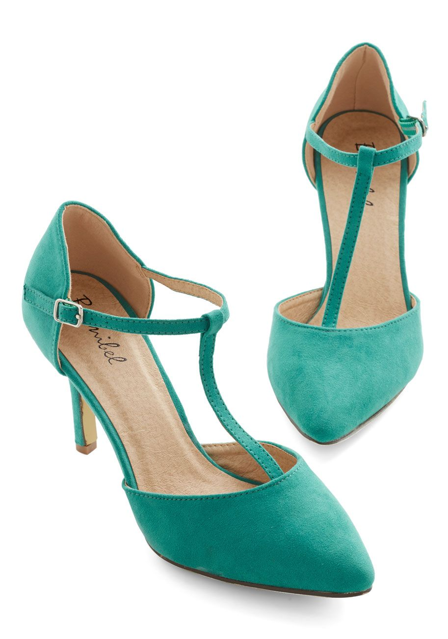 Get It, Got It, Go-See Heel in Green, #ModCloth | Modcloth ...