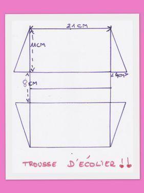 Souvent Patron pour Trousse d'écolier  | couture creative | Pinterest  HD09
