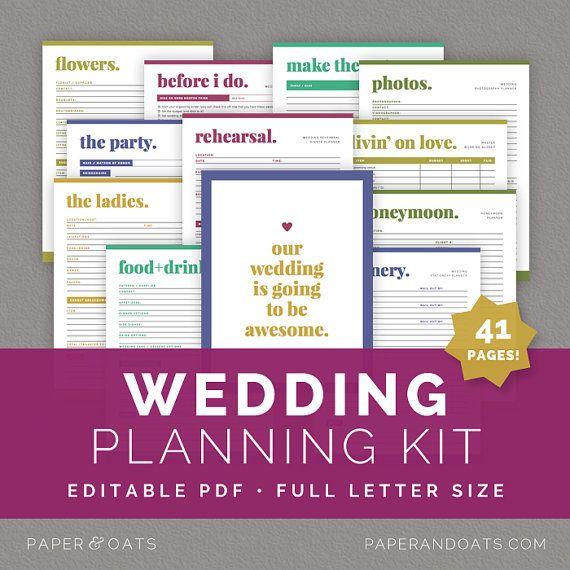 Wedding Planning Kit – Editable Wedding To Do List, Wedding ...