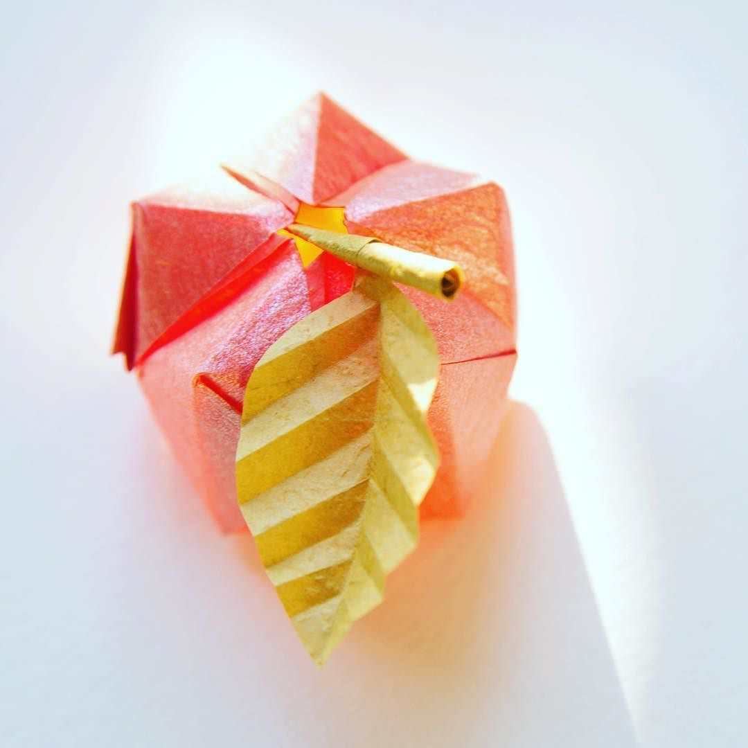 Origami food image collections craft decoration ideas 3d origami apple or five sided waterbomb tutorial at paperkawaii 3d origami apple or five sided jeuxipadfo Images