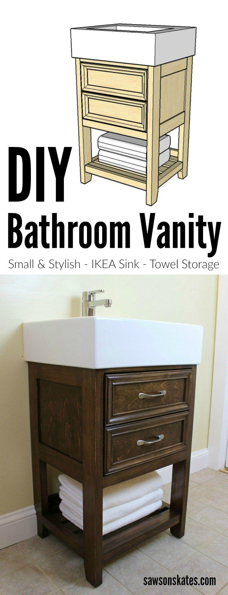 Small Size Big Style Diy Bathroom Vanity Small Bathroom Vanities Diy Bathroom Vanity Bathroom Sink Diy [ 2000 x 768 Pixel ]