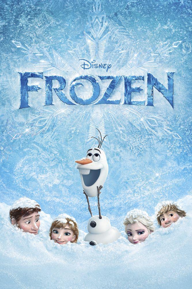 Frozen Movie Poster - Kristen Bell, Idina Menzel, Jonathan Groff  #Frozen, #MoviePoster, #ChrisBuckJenniferLee, #KidsFamily, #IdinaMenzel, #JonathanGroff, #KristenBell