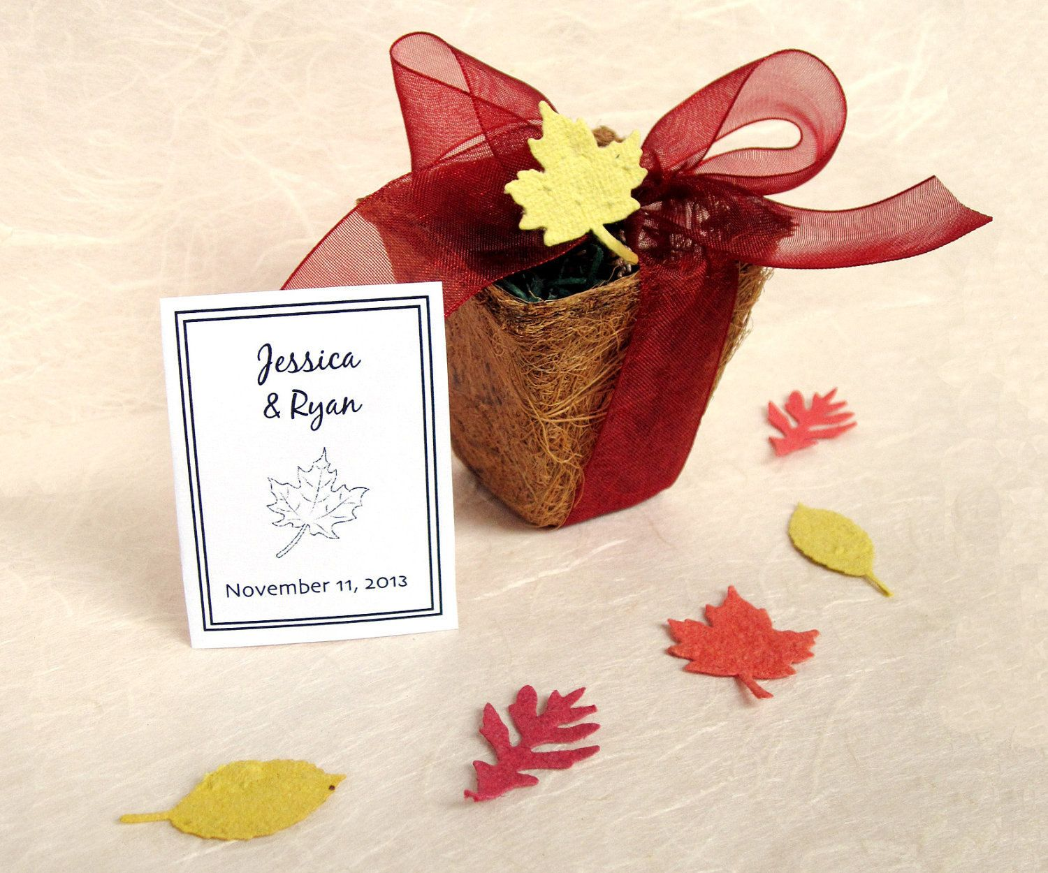 30 Seed Wedding Favors - Plantable Pots and Confetti Seed Paper ...