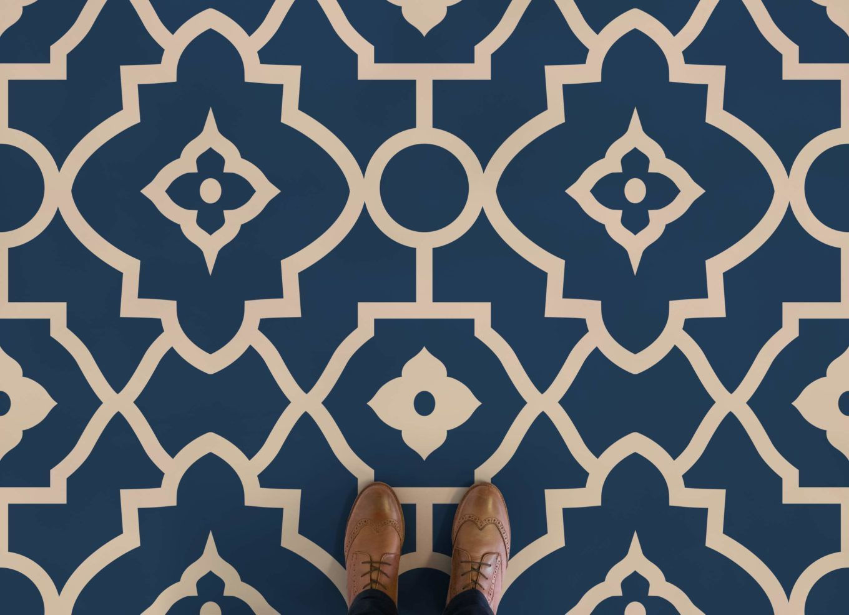 Morocco Moroccan Style Vinyl Flooring Blue Feet Vinyl Flooring