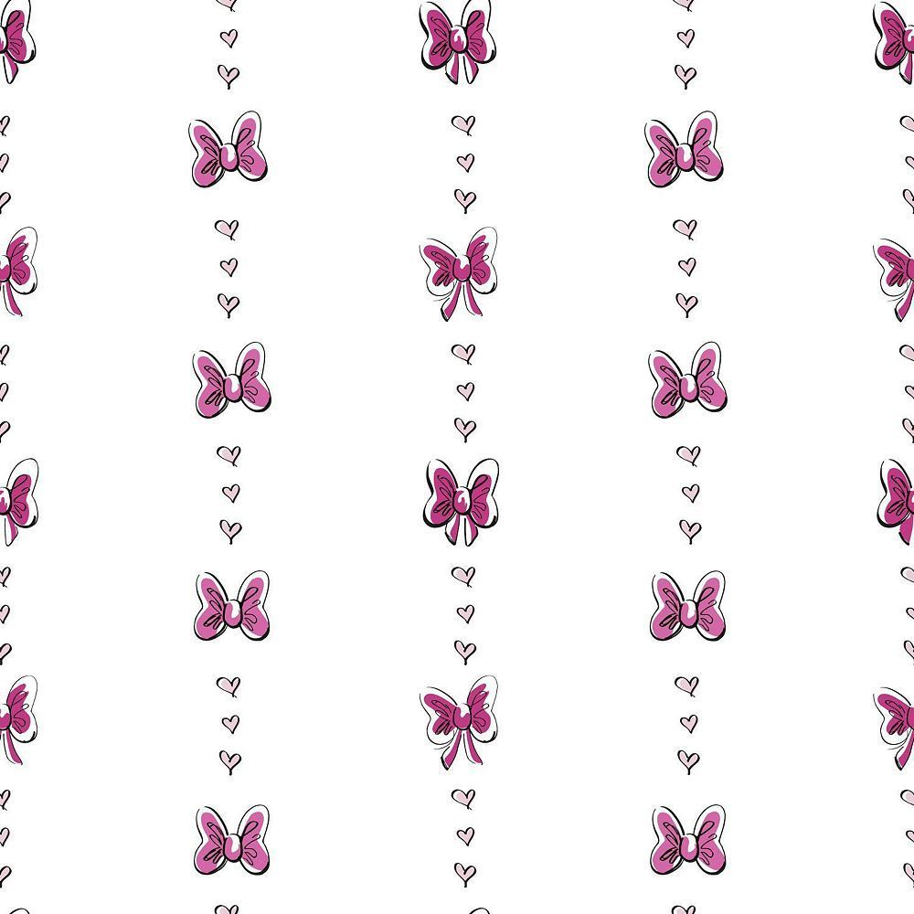 Disney S Minnie Mouse Bow Stripe Removable Wallpaper