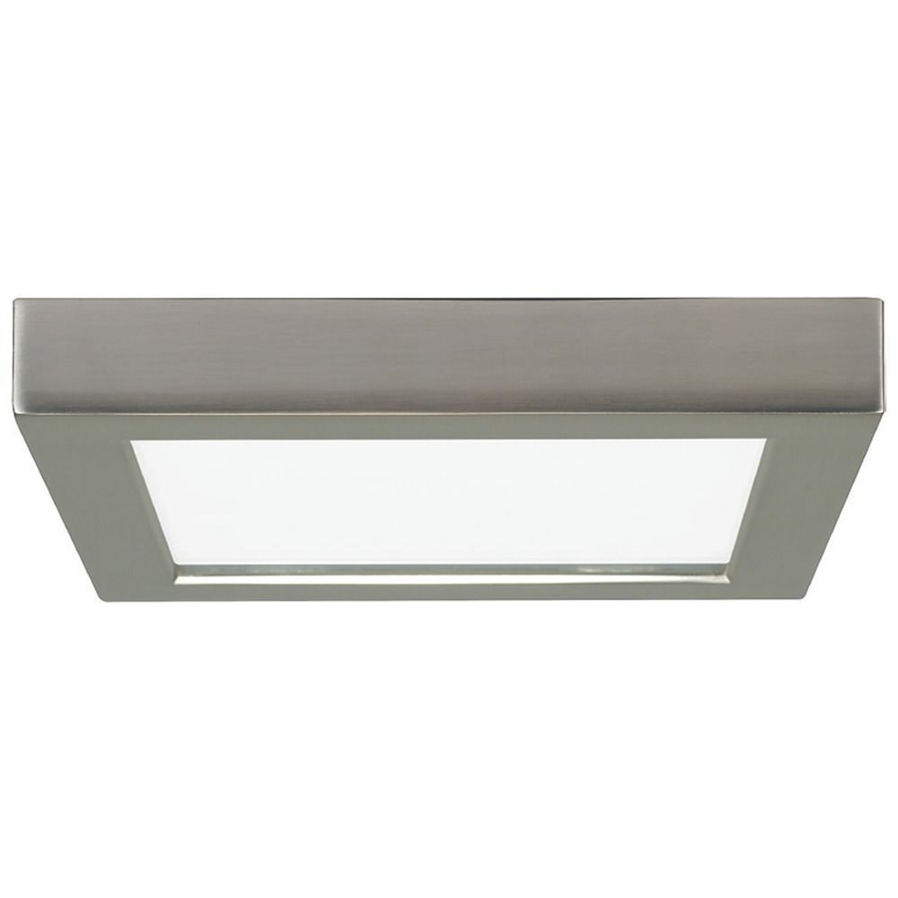 Design Classics Lighting 7 Inch Square Nickel Low Profile Led