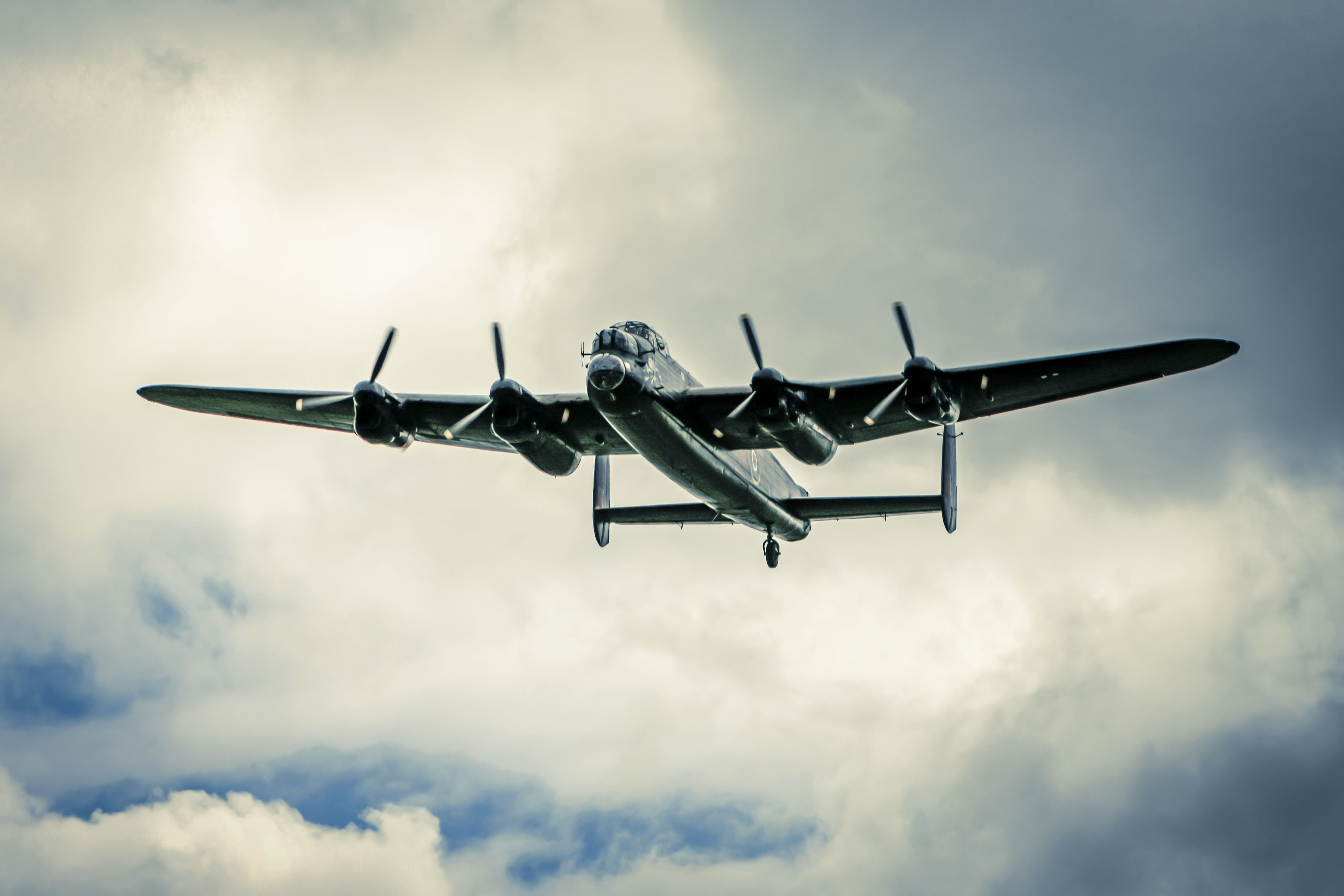 lancaster bomber vintage aviation wall decor print 12x18in satin