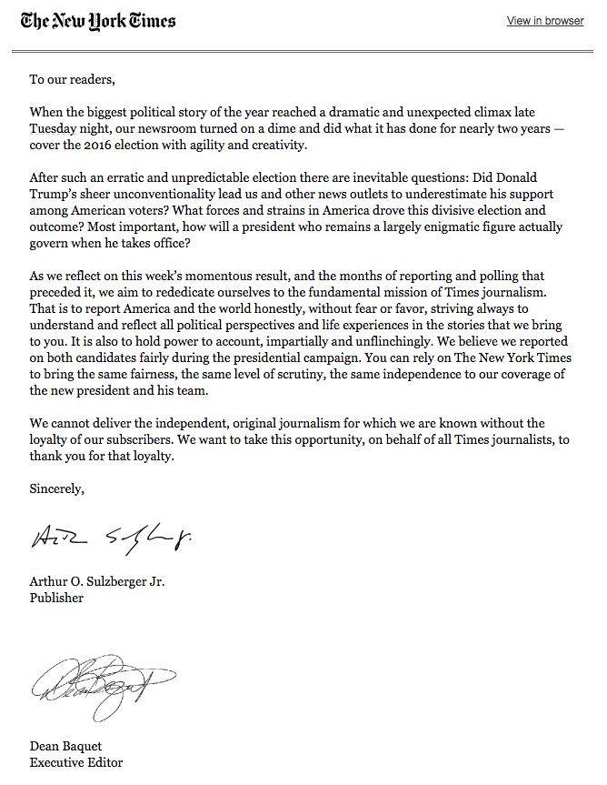 Dans une lettre à ses lecteurs, lu0027éditeur du New York Times Arthur - ses resume sample