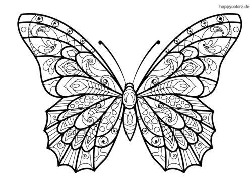 Schmetterling Ausmalbild Mandala Malvorlagen Ausmalen Ausmalbilder
