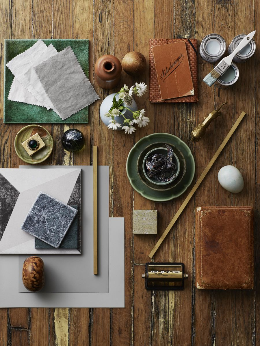 Latest Work, Styling And Moodboard Of Green And Orange, Woods Natured  Inspired