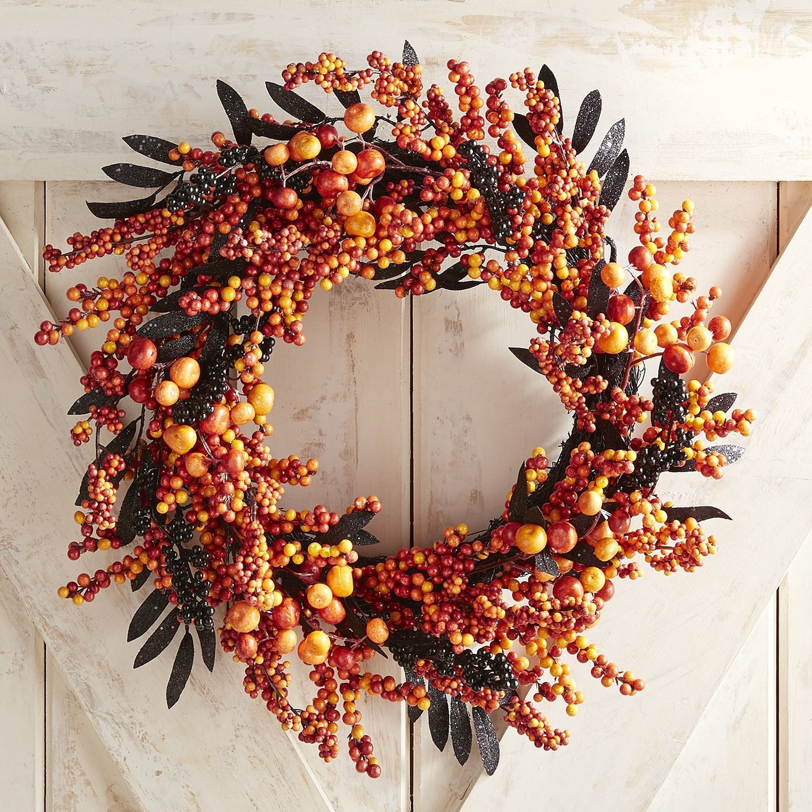 8 Halloween Wreaths for a Bewitching Front-Door Display - fall and halloween decorations