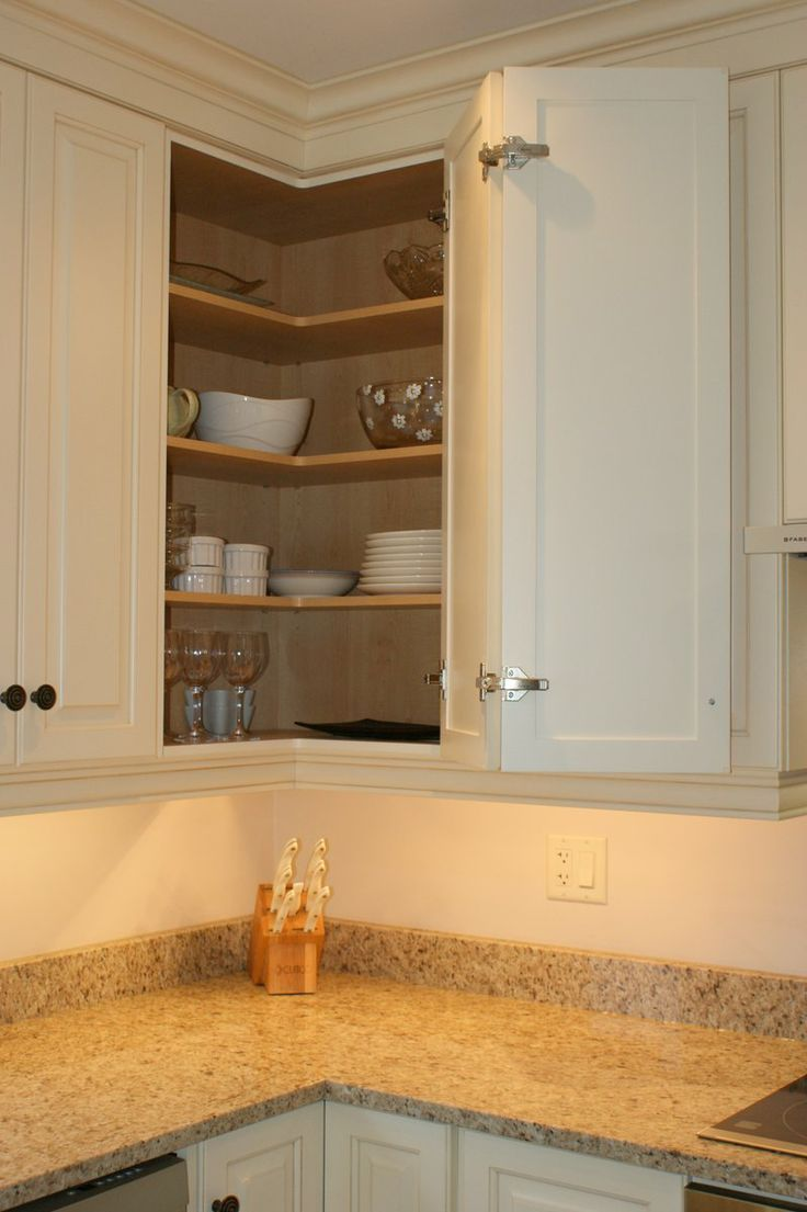 [+] Corner Upper Kitchen Cabinet Ideas