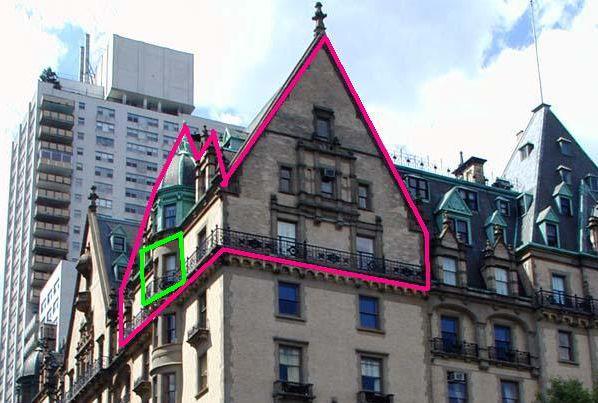 Outlined Is John Lennon S Home At The Dakota New York City Buildings New York City Apartment City Buildings