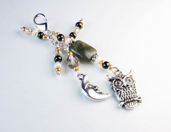 Harry Potter Owl Accessory Beaded Labradorite by beyondcharms