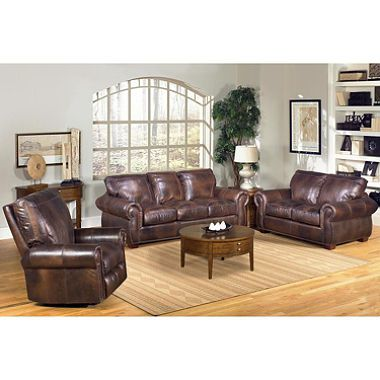 Best 2999 00 Kingston 3 Piece 100 Top Grain Leather Living 400 x 300