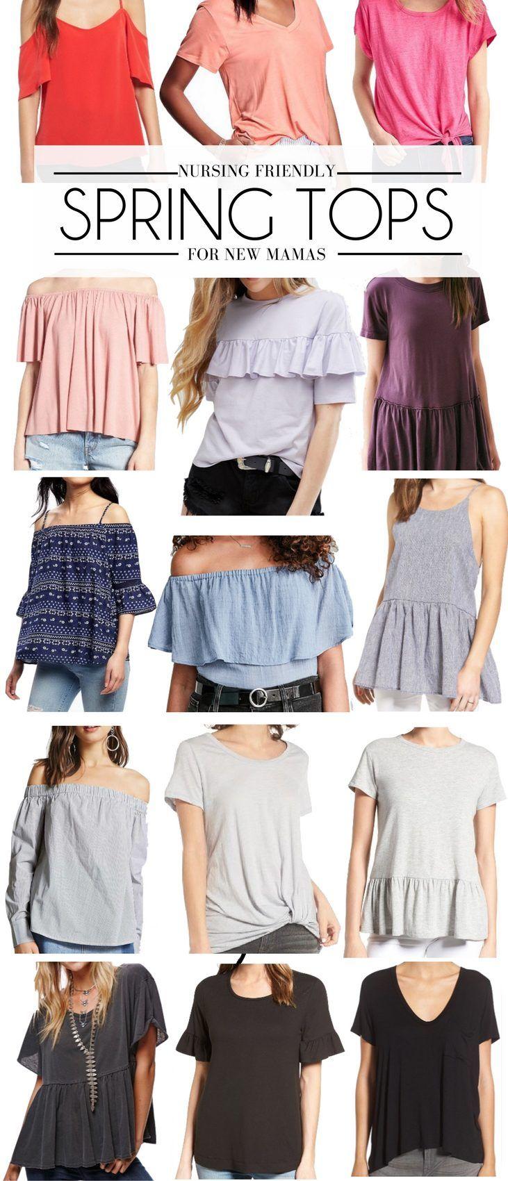 15 Nursing Friendly Spring Tops For New Moms Breastfeeding Fashion Postpartum Fashion Nursing Clothes