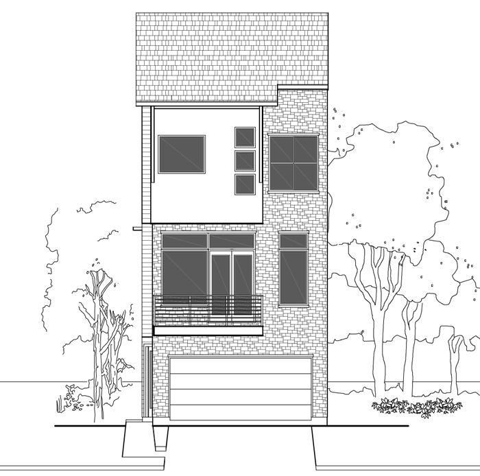 3 1 2 Story Townhouse Plan E3316 B1 1
