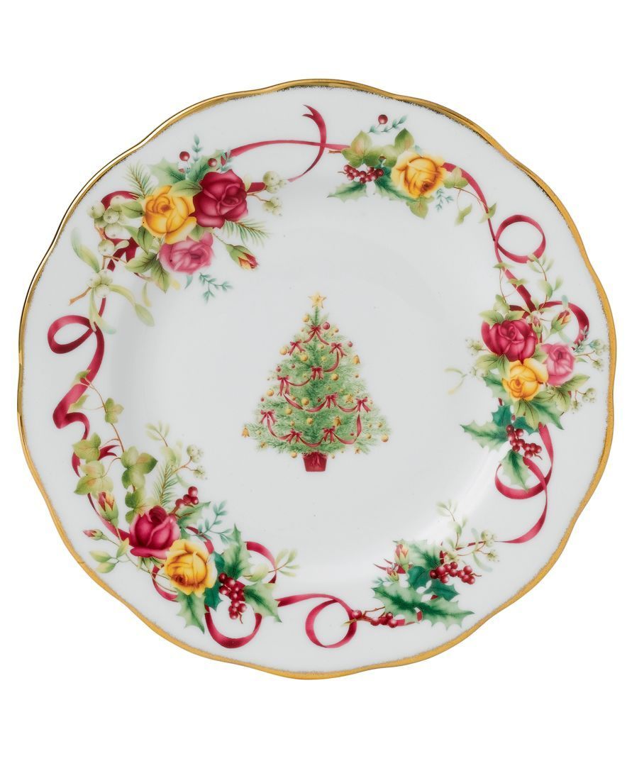 Country rose  sc 1 st  Pinterest & Royal Albert Old Country Roses Holiday Salad Plate   Dine In ...