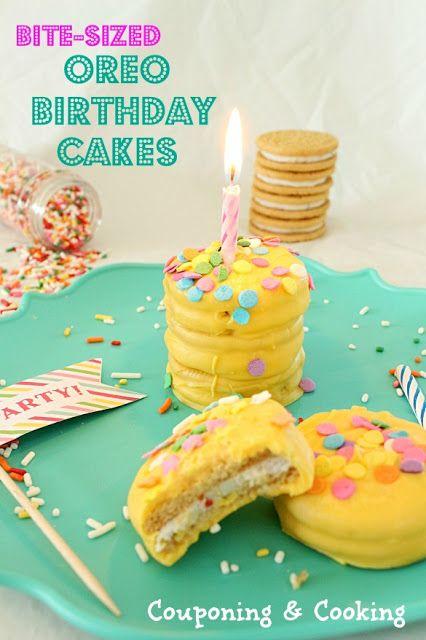 Brilliant Bite Sized Birthday Cakes Made With Golden Birthday Cake Oreos Personalised Birthday Cards Veneteletsinfo