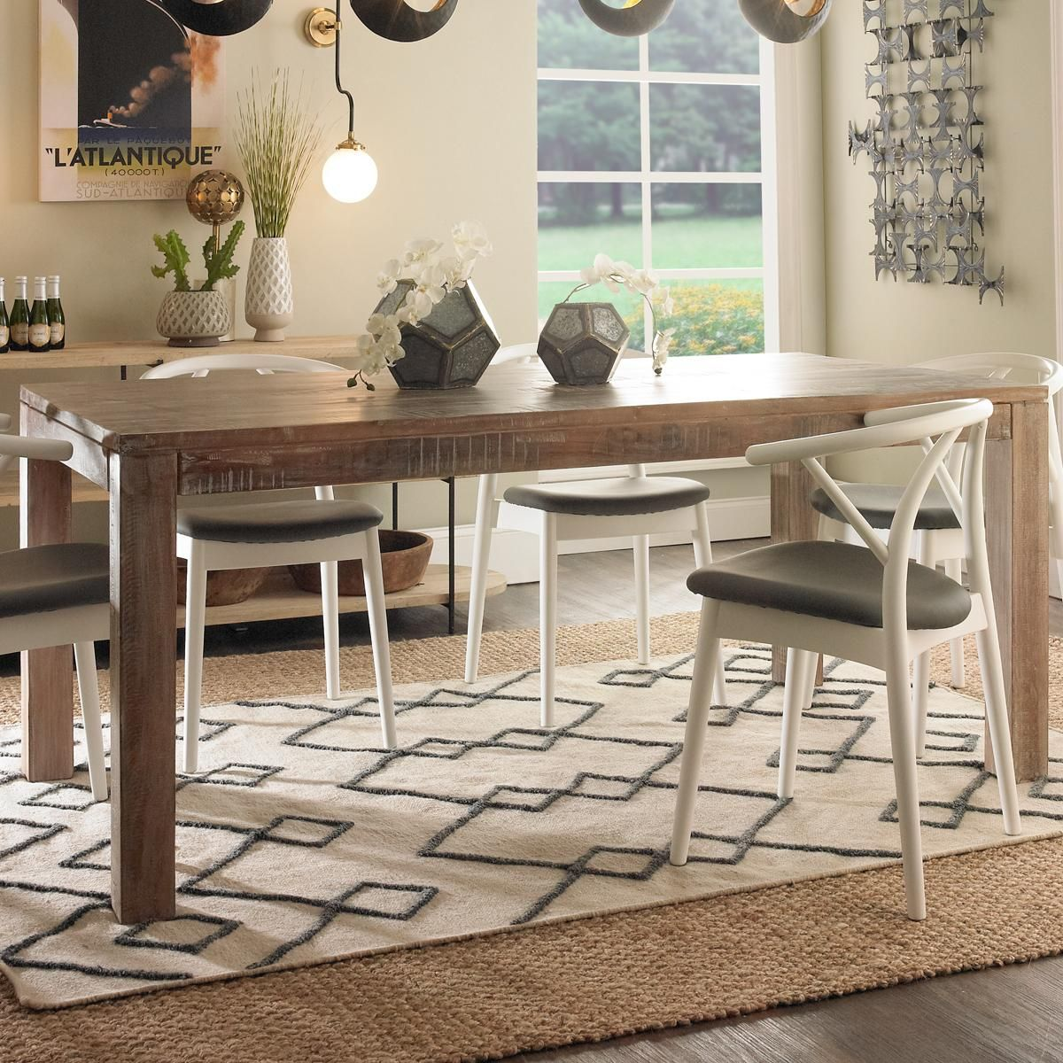 Primitive Salvaged Wood Dining Table