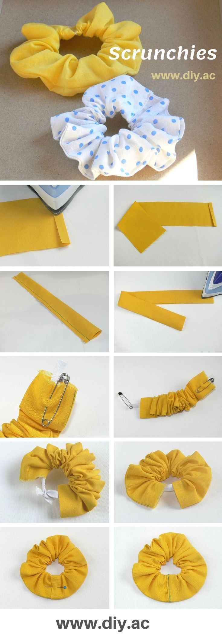 Photo of How to make scrunchies step by step | DIY by Anna Craft