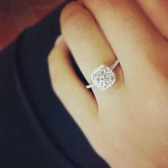 Cartier Engagement Ring With Wedding Band On Hand 40