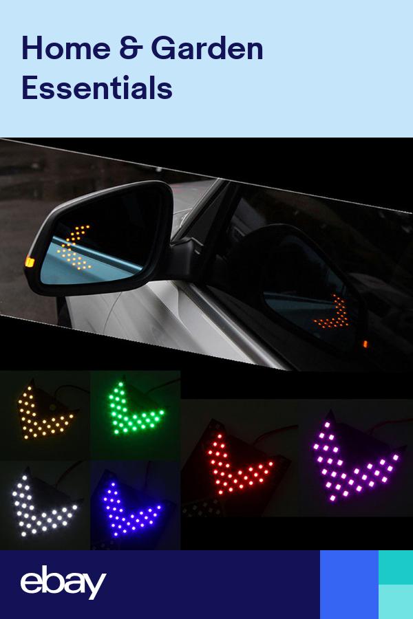 1 Pair Led Arrow Panel Car Rear View Mirror Indicator Turn Signal Light 6 Color Car Rear View Mirror Car Parts And Accessories Rear View Mirror