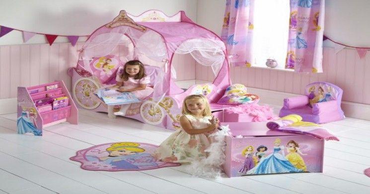 Cameretta Disney Principesse : Cameretta per bambine principesse disney con lettino sagomato a