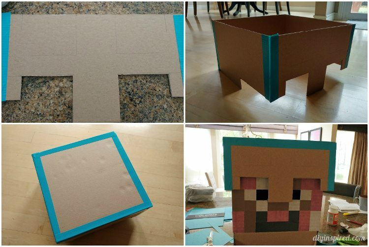 DIY Minecraft Costume Instructions