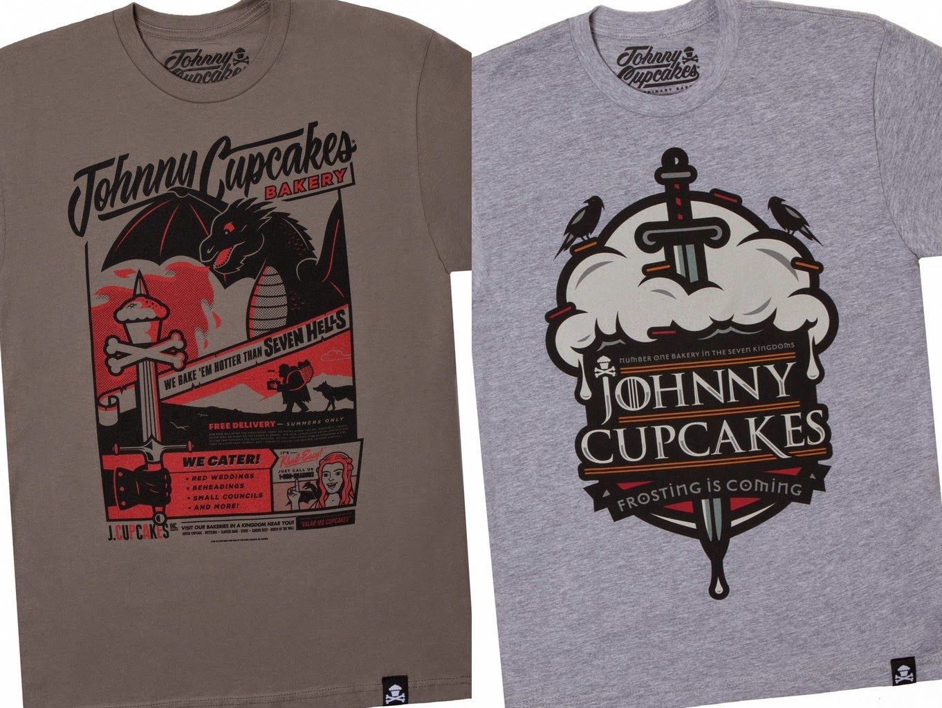 Shirt design games - Johnny Cupcakes X Game Of Thrones T Shirt Collection Frosting Is Coming