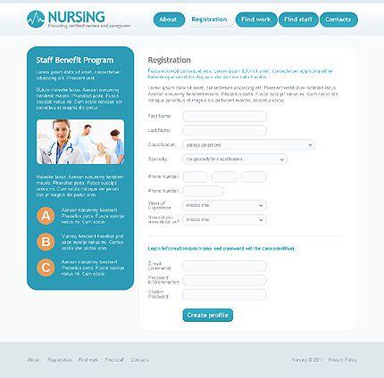 registration website template