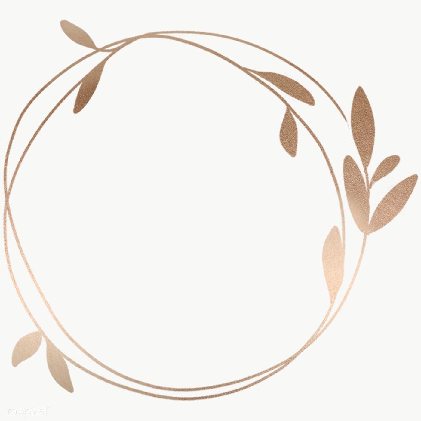 Golden Leafy Frame Transparent Png Premium Image By Rawpixel Com Nunny Floral Logo Design Pastel Background Logo Design Collection