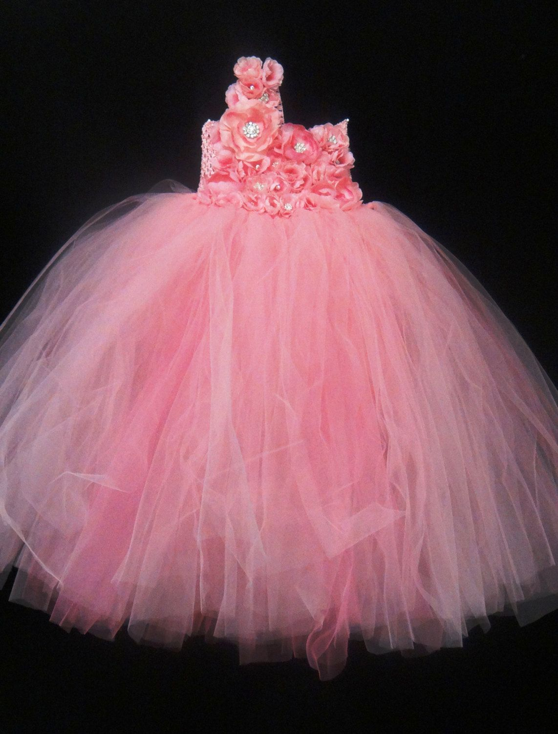 Pink Flower Girl Dress.... Pink flowers Tutu by LureCouture, $59.34 ...
