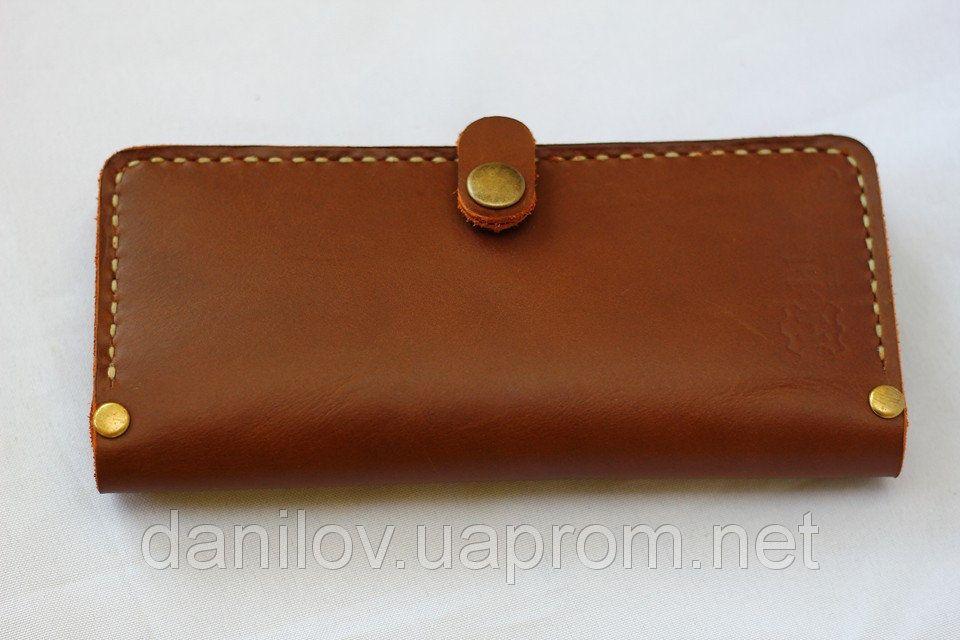 449b26d95523 Кожаный кошелек ручной работы Кошелек из натуральной кожи коричневого  цвета. Размеры кошелька 20х10 см.