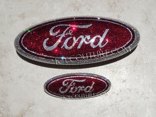 Red Swarovski Crystal Ford Emblems Whats Your Colors Ford