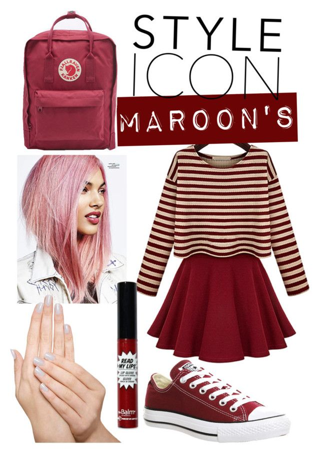 """Maroon's"" by corrychr on Polyvore featuring Converse, Piggy Paint, Fjällräven, simple and maroon"