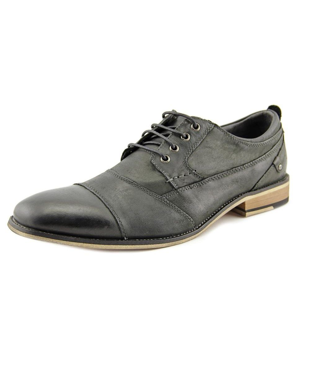 55e5ffbe4a0 STEVE MADDEN Steve Madden P-Kesslo Men Cap Toe Leather Black Oxford .   stevemadden  shoes  oxfords