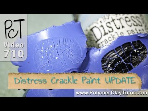 Tim Holtz Distress Crackle Paint On Polymer Clay Update Youtube Polymer Clay Tutorial Crackle Painting Polymer Clay Projects