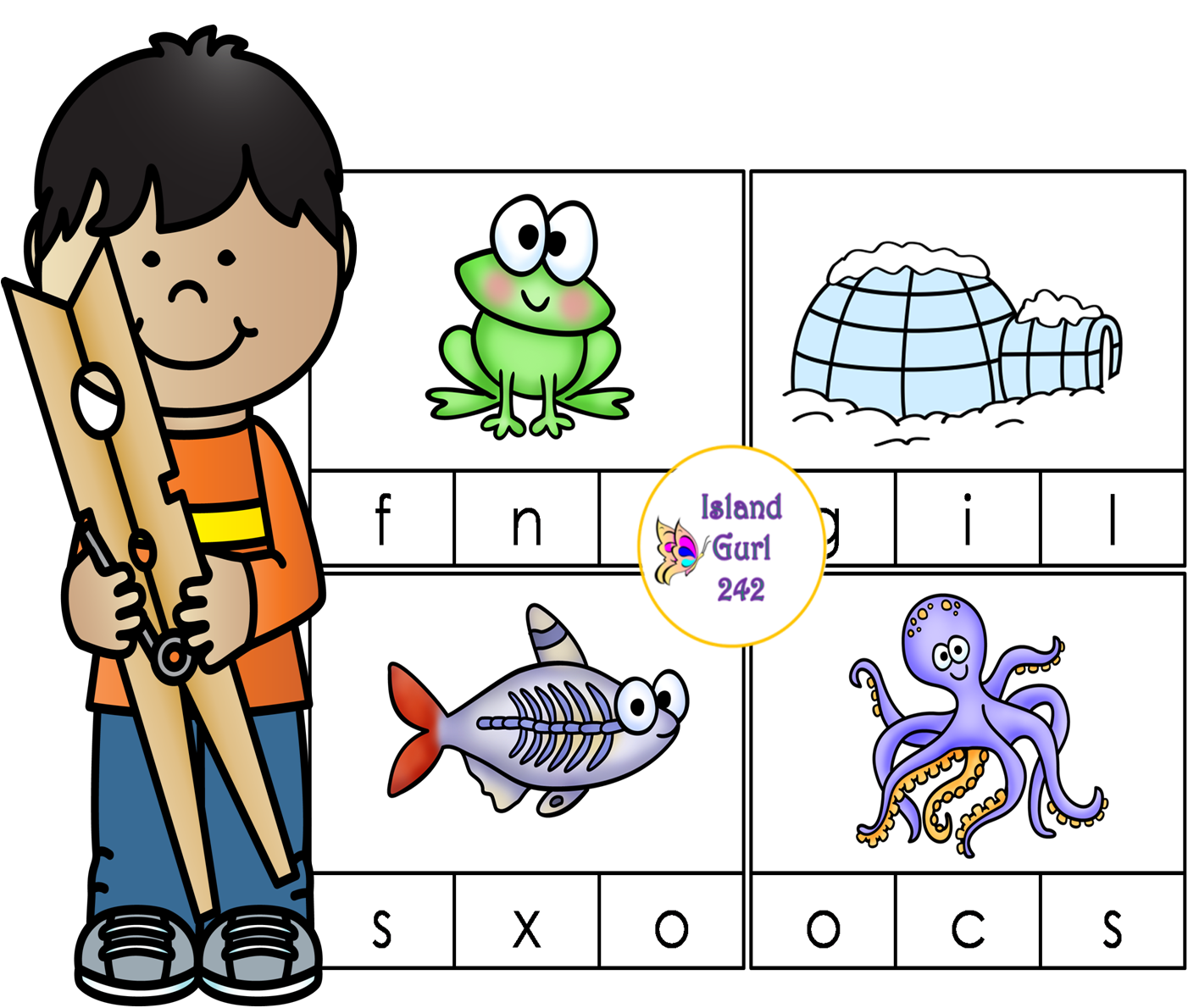 Beginning Sounds Clip Cards With Bonus Worksheets