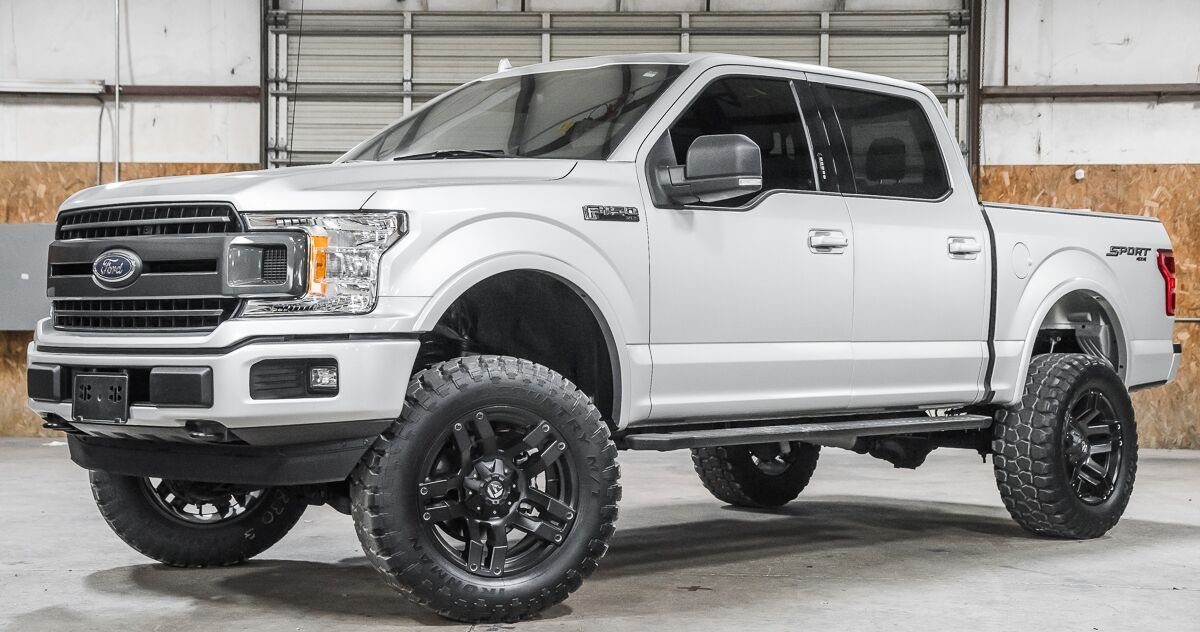 SOLD! Stock 9830 Lifted 2018 Ford F150 4x4 SuperCrew XLT