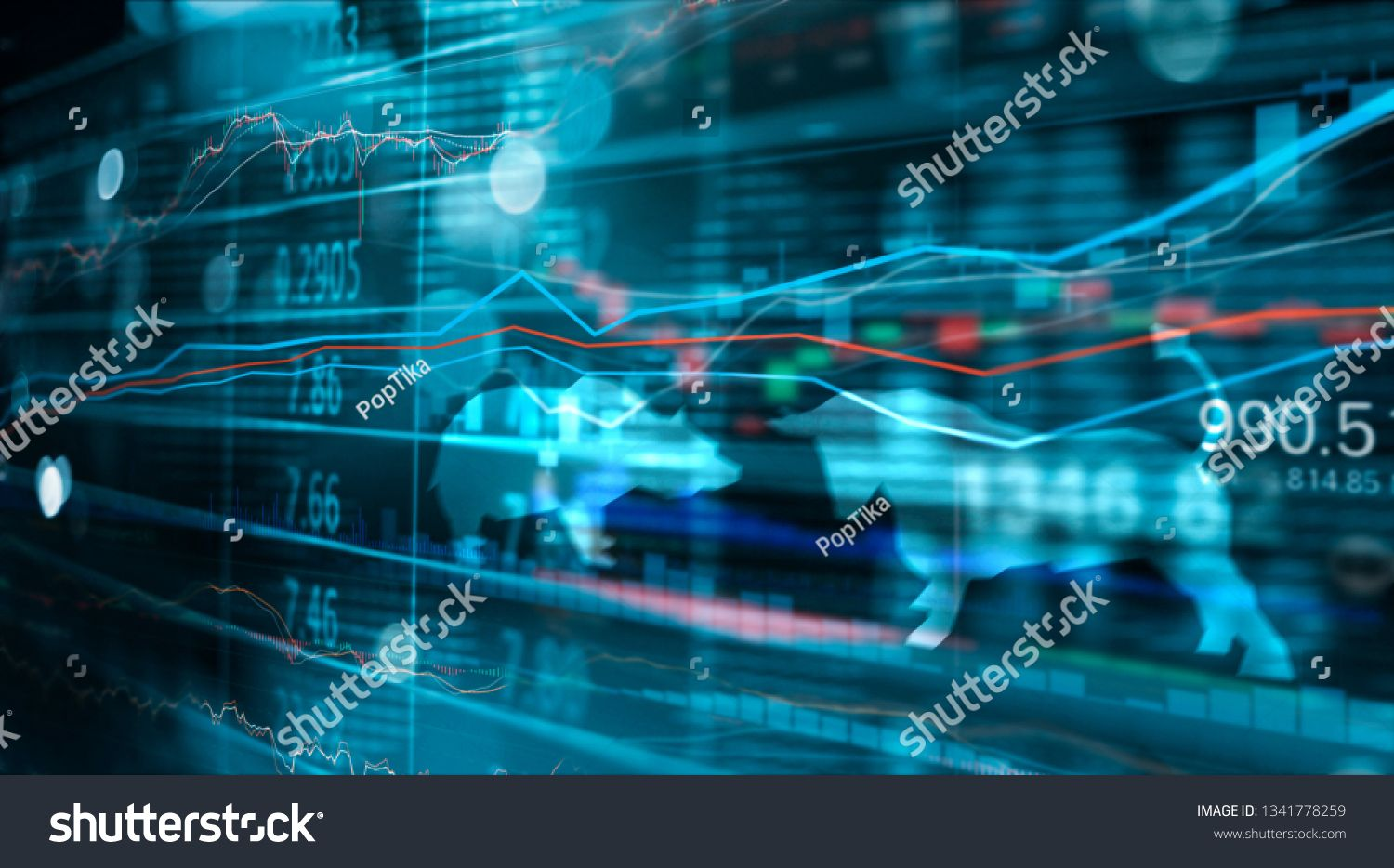 Financial Stock Market Numbers And Forex Trading Graph Business And Stock Market Data Financial Investme In 2020 Stock Market Data Stock Market Financial Investments