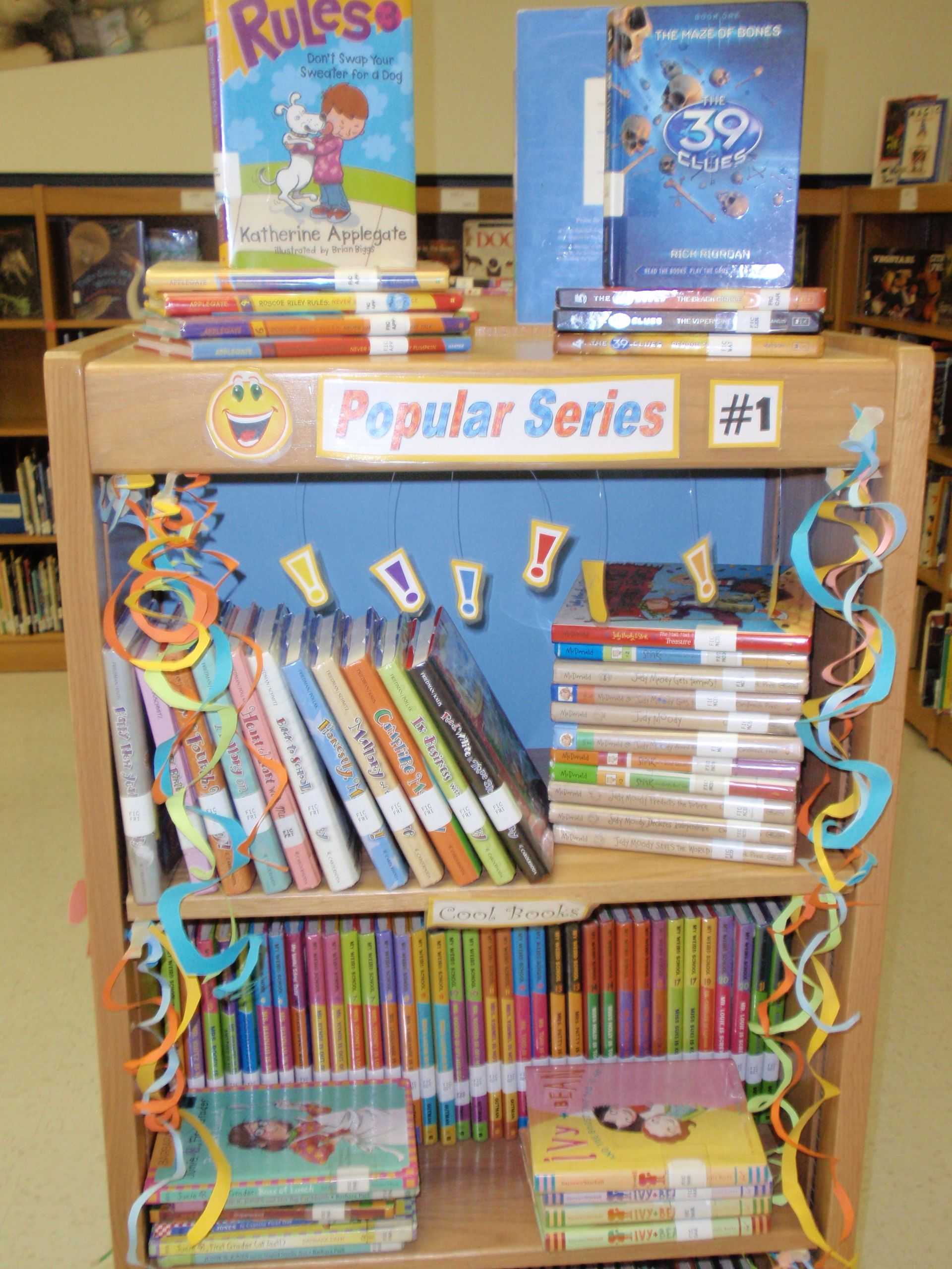 Pinterest & Elementary Library Decoration Themes | Our library aide is ...