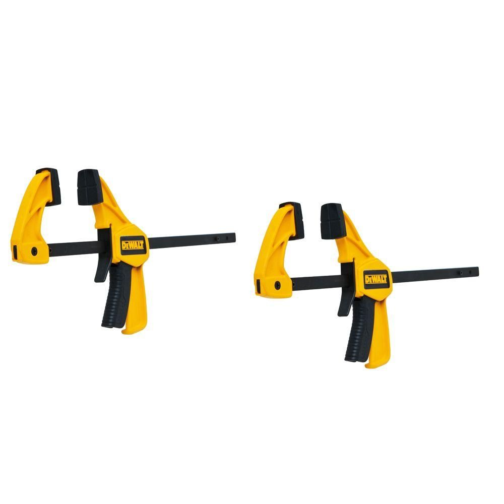 Dewalt 4 5 In 35 Lb Trigger Clamps 2 Pack W 1 5 In Throat Depth Dwht83148 Clamp Small Bars Home Depot