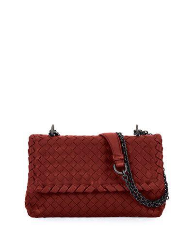 L0P3T Bottega Veneta Baby Olimpia Intrecciato Shoulder Bag
