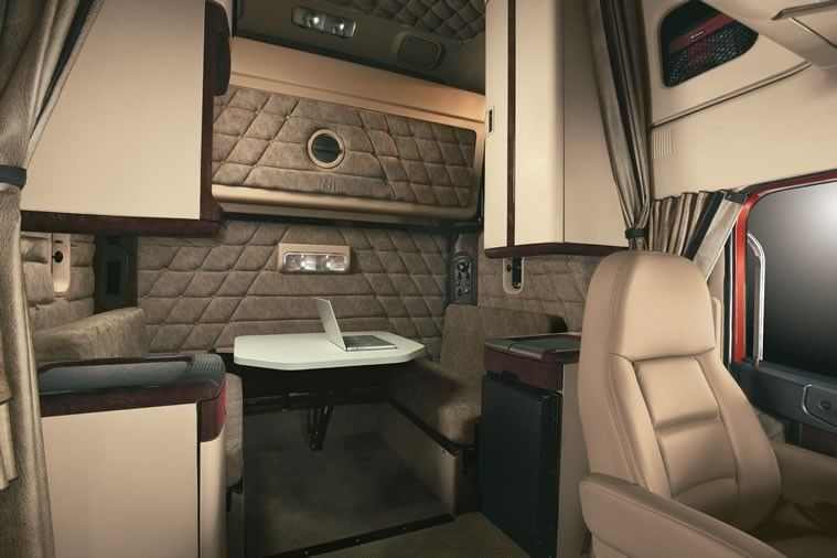 Coronado Inside Cab Sleeper | Freightliner Trucks ...