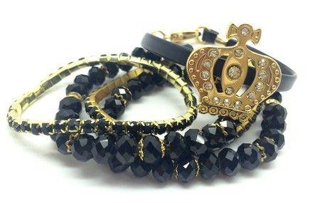 Mix de pulseiras Coroa
